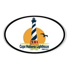 Cape Hatteras Lighthouse Oval Decal