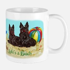 Life's a Beach Scottish Terri Mug