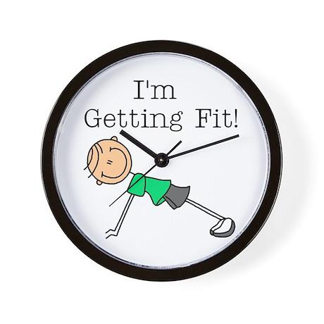 I'm Getting Fit Wall Clock