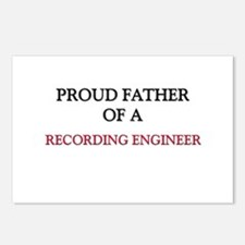 Proud Father Of A RECORDING ENGINEER Postcards (Pa