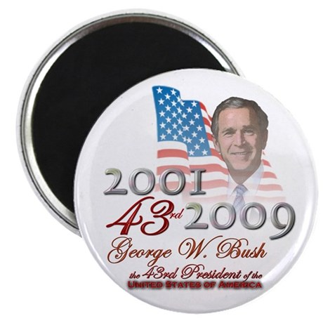"""43rd President - 2.25"""" Magnet (100 pack)"""