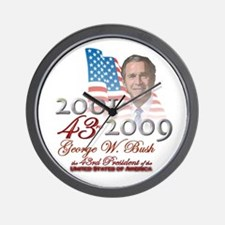 43rd President - Wall Clock