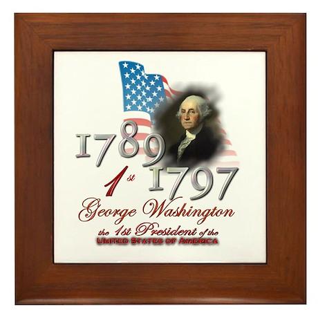 1st President - Framed Tile