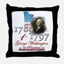 1st President - Throw Pillow