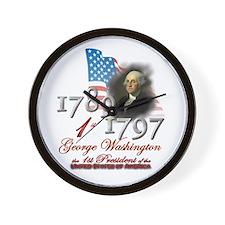 1st President - Wall Clock