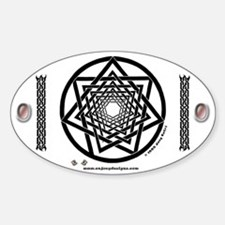 Spiral Heptagram - Oval Decal