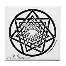 Spiral Heptagram - Tile Coaster