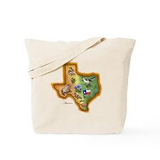 Texas Symbols Tote Bag