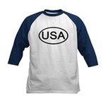 United States - USA - Oval Kids Baseball Jersey