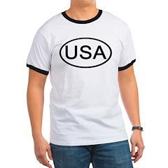 United States - USA - Oval Ringer T