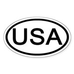 United States - USA - Oval Oval Sticker