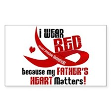 Red For My Father Heart Disease Decal