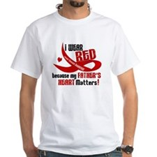 Red For Father Heart Disease Shirt Shirt