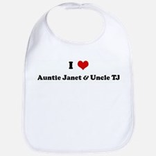 I Love Auntie Janet & Uncle T Bib