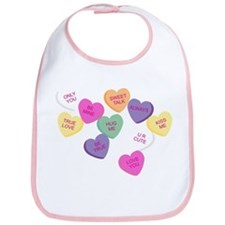 Candy Hearts! Bib