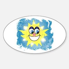 Summertime Oval Sticker (10 pk)