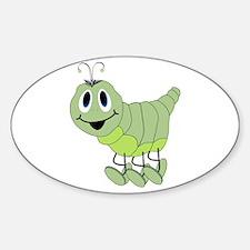Inchworm Oval Sticker (10 pk)