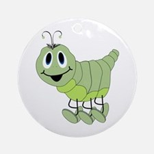 Inchworm Ornament (Round)