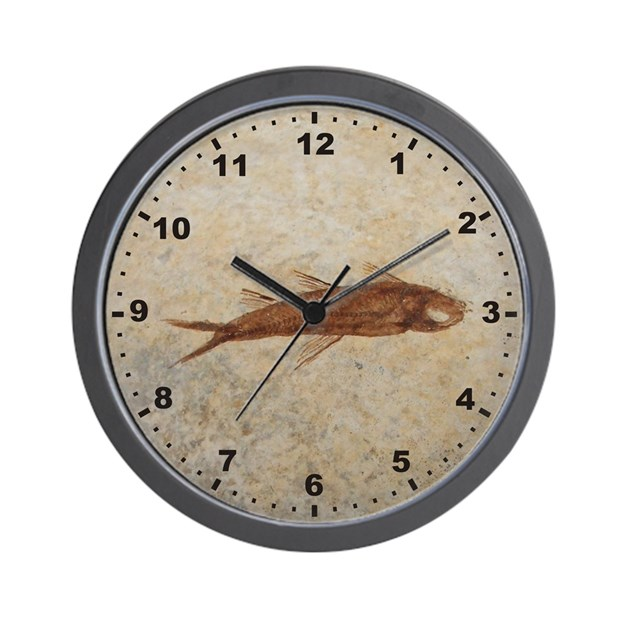 Fossil fish wall clock by explore store for Fish wall clock