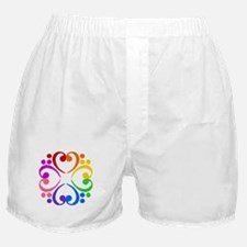 Bass Clef Flower Boxer Shorts