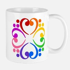 Bass Clef Flower Mug