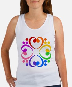Bass Clef Flower Women's Tank Top
