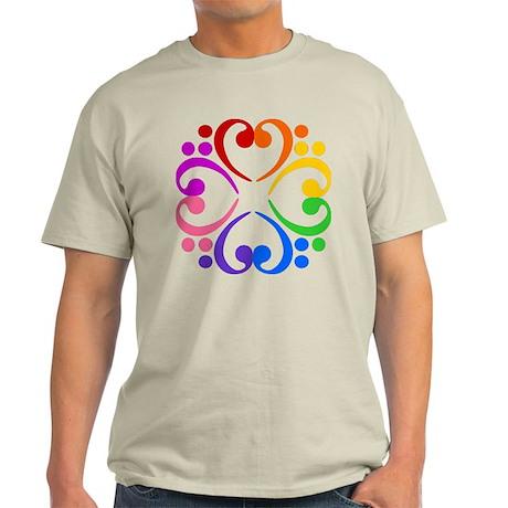 Bass Clef Flower Light T-Shirt
