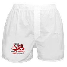 Red For Grandma Heart Disease Boxer Shorts