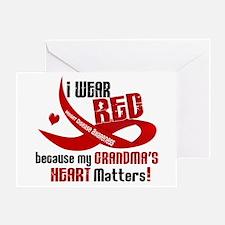 Red For Grandma Heart Disease Greeting Card