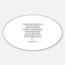 LEVITICUS 6:9 Oval Decal