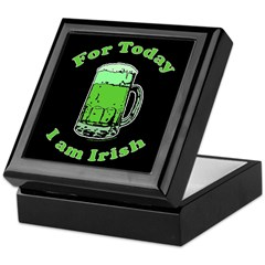 Today I am Irish Black Keepsake Box