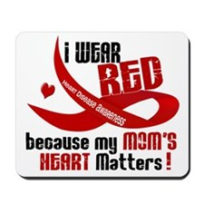 Red For My Mom Heart Disease Mousepad