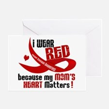 Red For My Mom Heart Disease Greeting Card