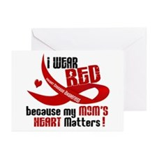Red For My Mom Heart Disease Greeting Cards (Pk of
