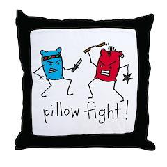Pillow Fight Throw Pillow