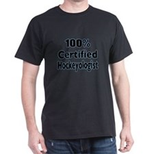 100 % Certified Hockeyologist for Black FIN T-Shir