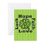 4 Leaf Clover Greeting Cards (Pk of 20)