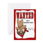 Wanted Poster Birthday Invitations (Pk of 10)