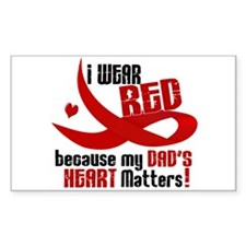 I Wear Red For My Dad Heart Disease Decal