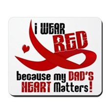 I Wear Red For My Dad Heart Disease Mousepad