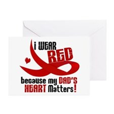 I Wear Red For My Dad Heart Disease Greeting Cards
