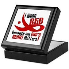 I Wear Red For My Dad Heart Disease Keepsake Box