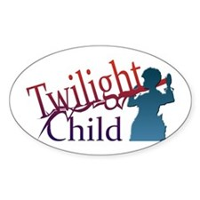 TWILIGHT CHILD Oval Decal