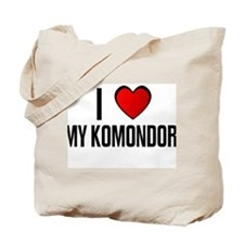 I LOVE MY KOMONDOR Tote Bag