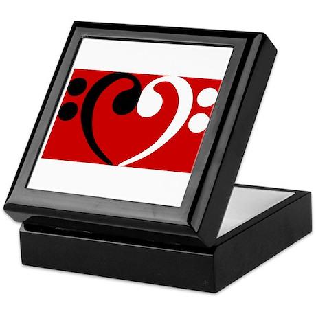 Bass Clef Heart Keepsake Box