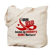 Red For My Mommy Heart Disease Tote Bag