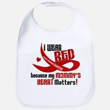 Red For My Mommy Heart Disease Bib
