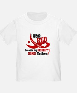 Red For My Mommy Heart Disease Shirt Toddle