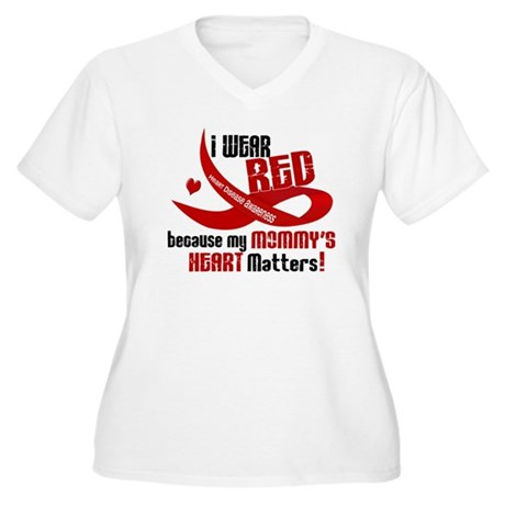 Red For My Mommy Heart Disease Shirt Women's Plus