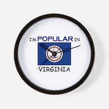 I'm Popular In VIRGINIA Wall Clock